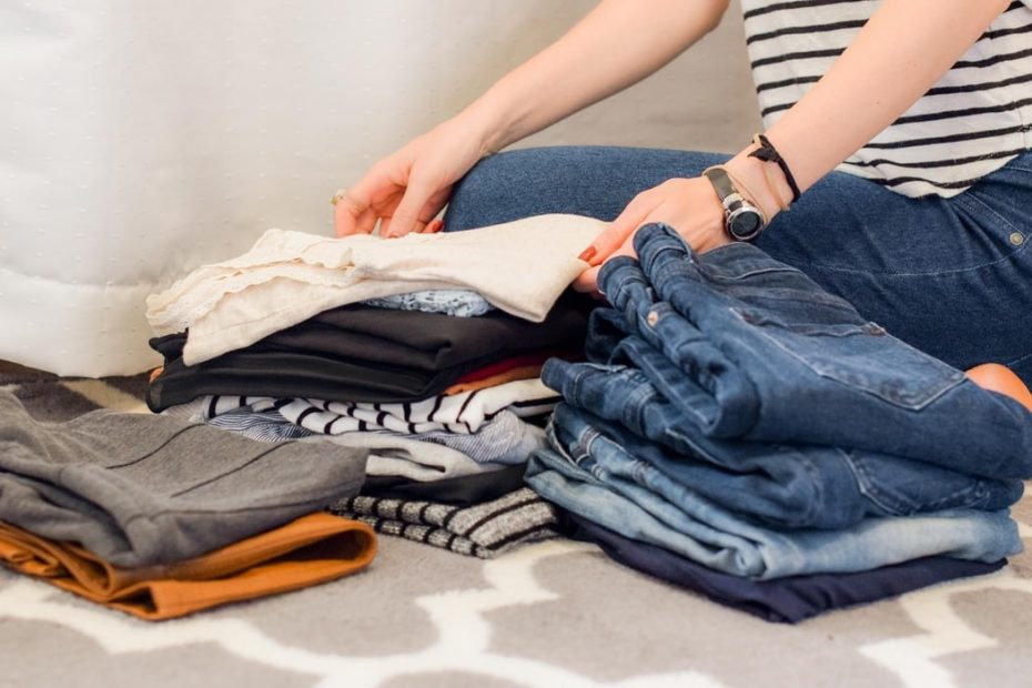 Woman folding garments the right way