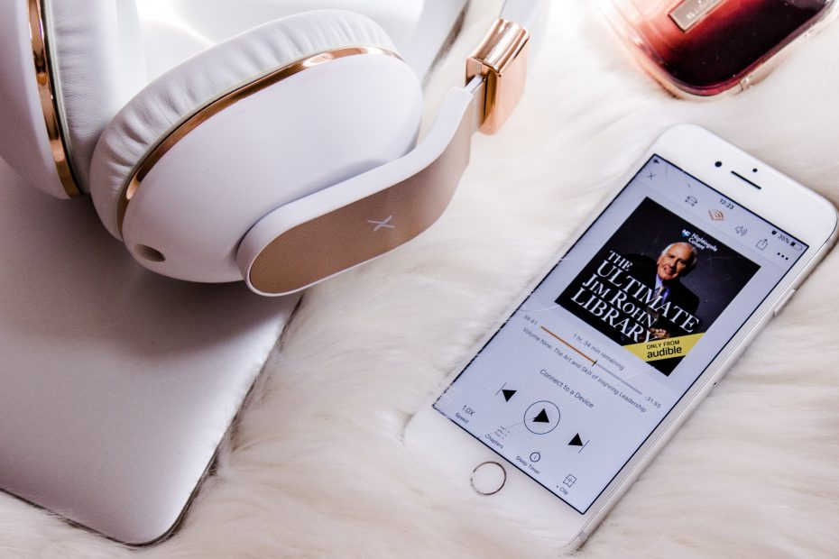 An audiobook playing for relaxation during free time